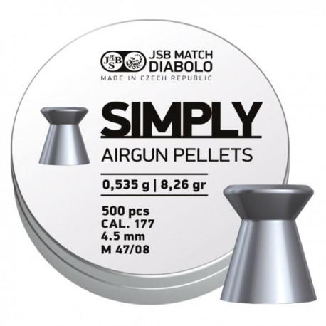 ŚRUT DIABOLO H&N SIMPLY 0,535G 4,5MM 500SZT.
