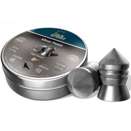 ŚRUT DIABOLO H&N SILVER POINT 4,5MM 500SZT. 0,75G